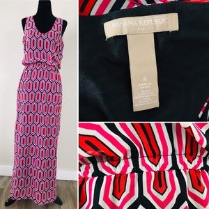 BANANA REPUBLIC Print Maxi Dress
